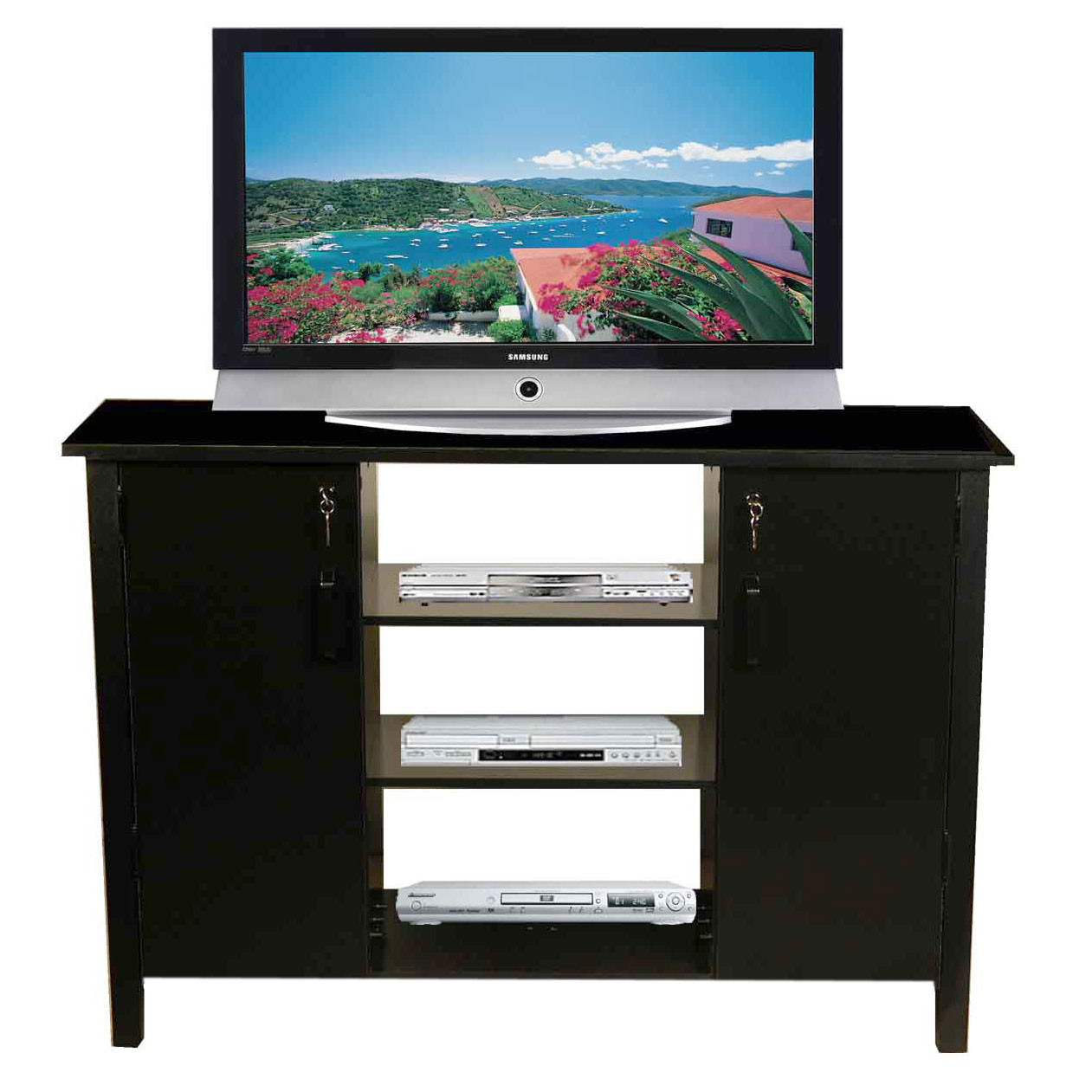 Cd Dvd Cabinets For Both Home And Office # Table Tv Avec Porte Cd