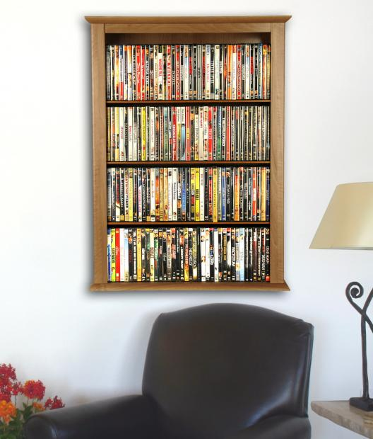 Wall mounted cabinet single venture horizon In wall dvd storage