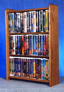 solid oak cabinet for dvdu0027s vhs tapes books and more