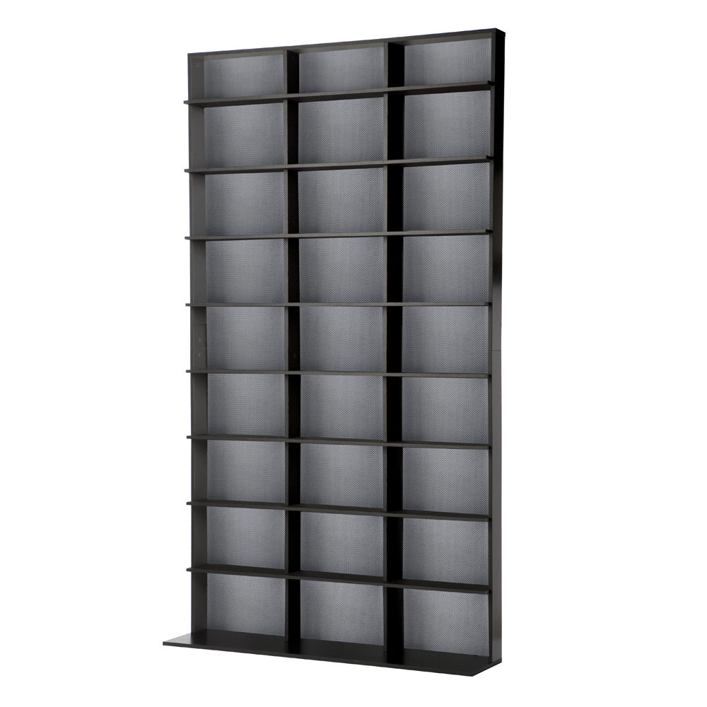 Media tower elite large in black - Cd storage rack tower ...