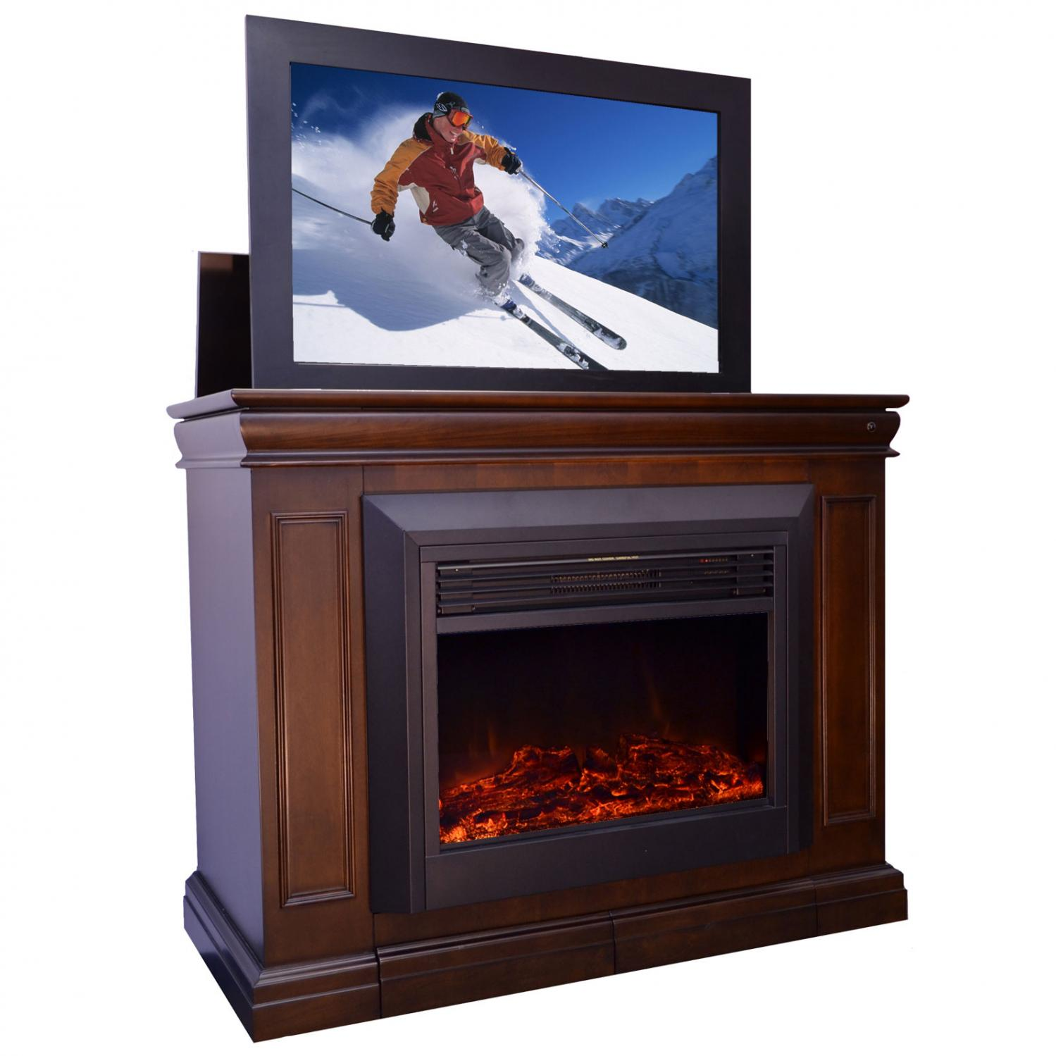 with end tv home databreach fireplace for screens of flat cabinet design lift bed