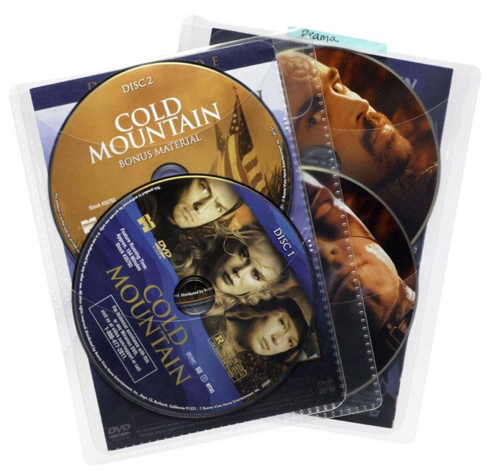 Movie Sleeves For Cd DVD Or Bluray 25 Pack In Clear
