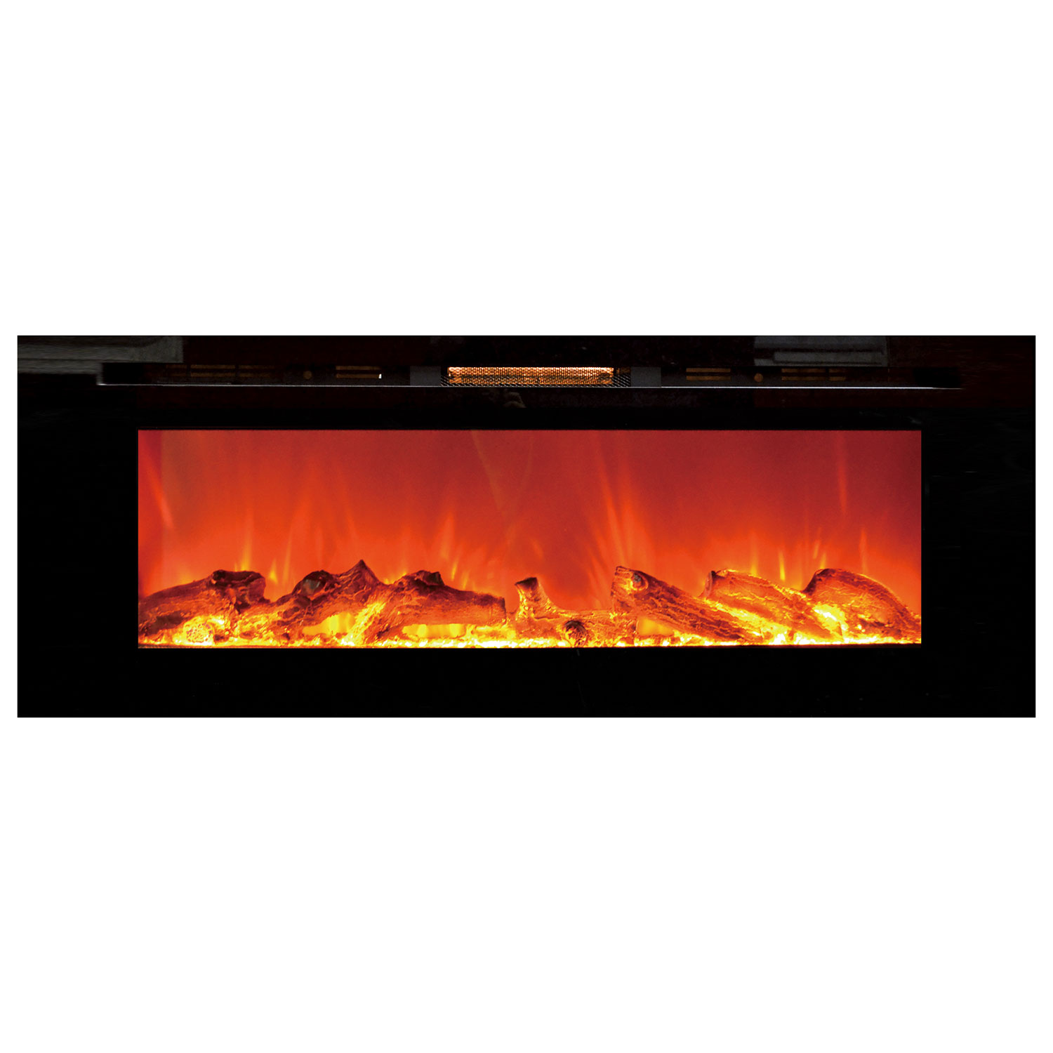Sideline flush mount fireplace for Flush mount electric fireplace