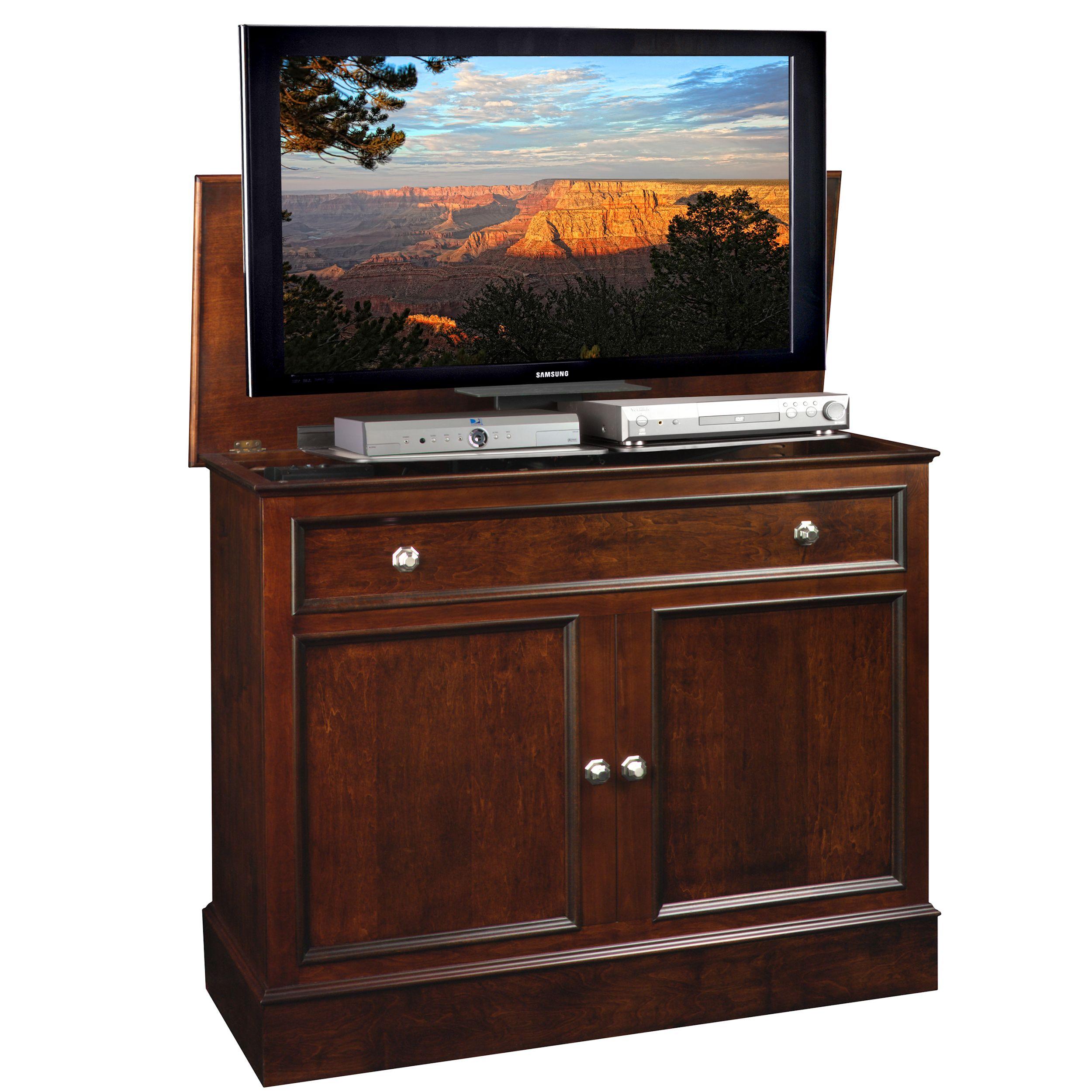 traveler tv lift cabinet. Black Bedroom Furniture Sets. Home Design Ideas