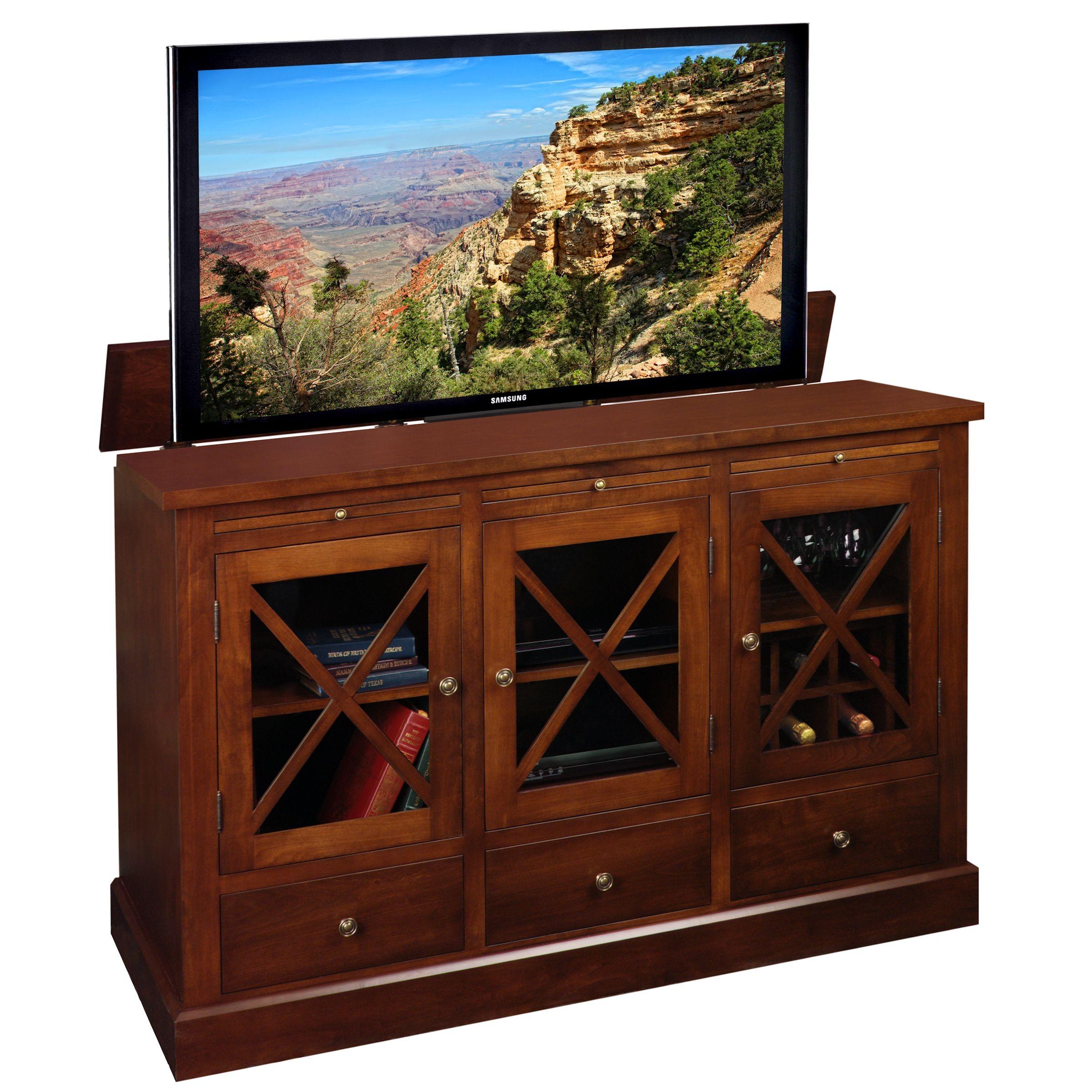 homestead tv lift cabinet. Black Bedroom Furniture Sets. Home Design Ideas