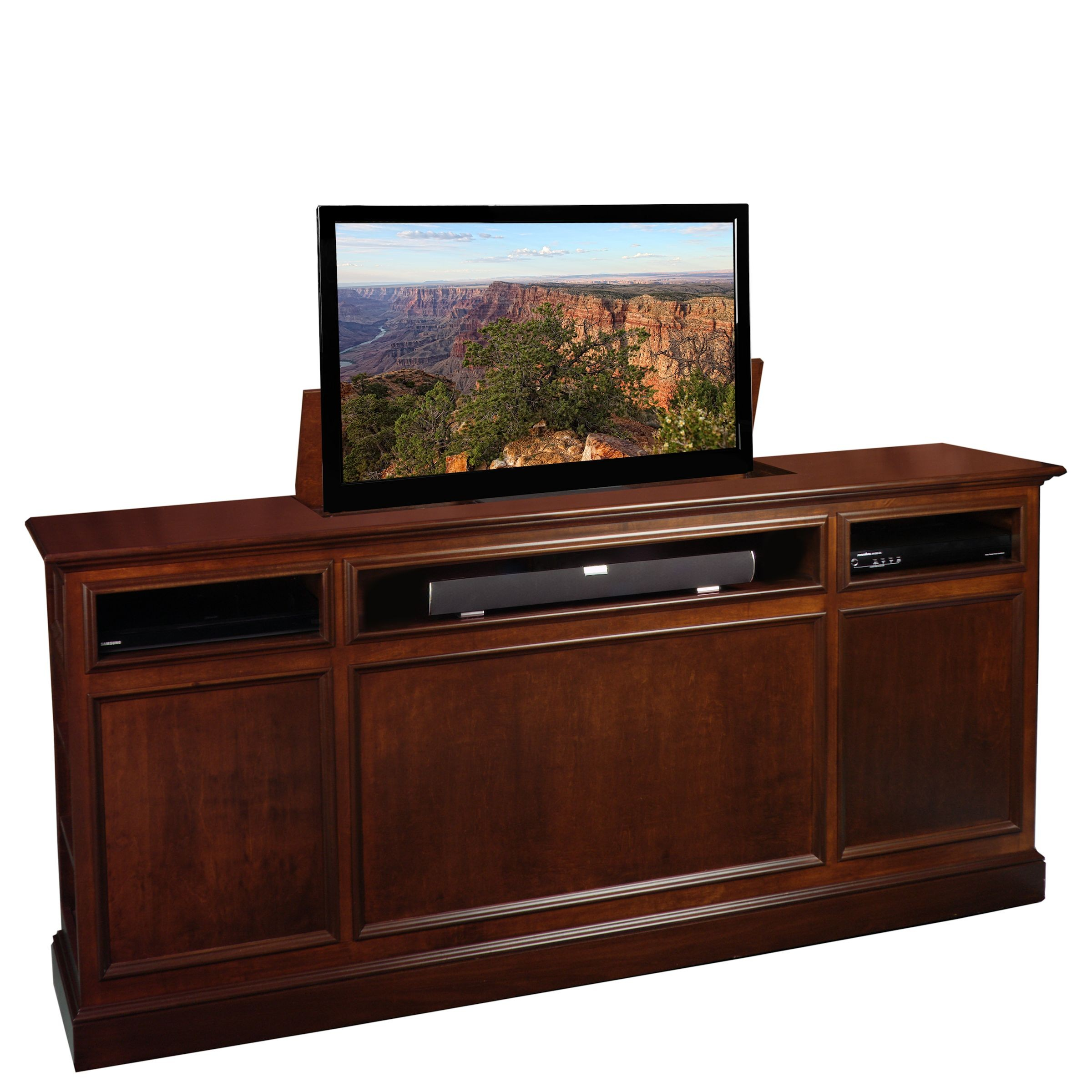 suite tv lift cabinet. Black Bedroom Furniture Sets. Home Design Ideas