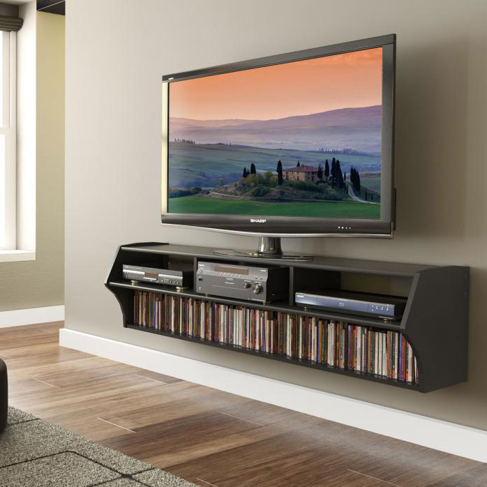 black altus plus 58 inch floating tv stand - Entertainment Centres And Tv Stands