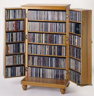 Media Cabinets With Louvered Doors