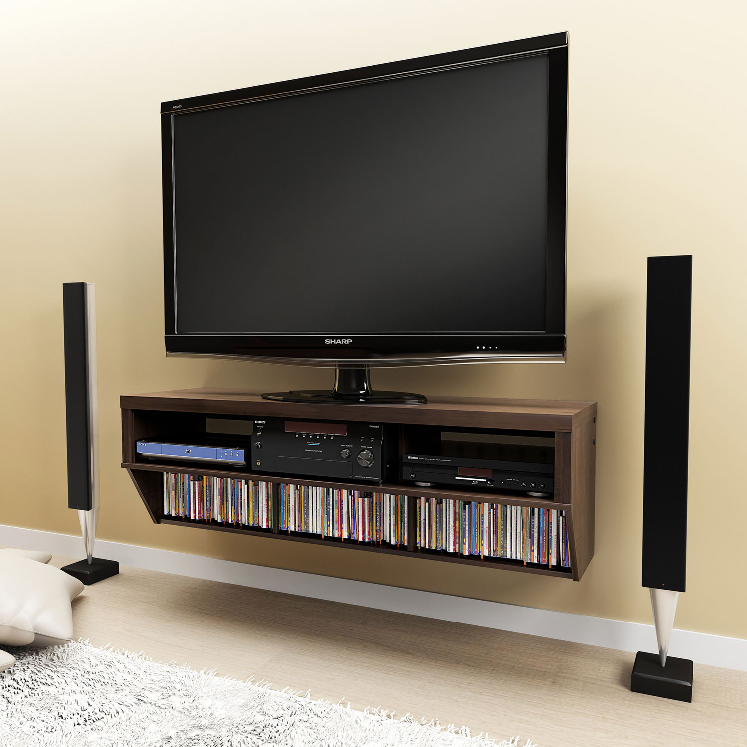Espresso 58 wide wall mounted av console - Images of wall mounted ...