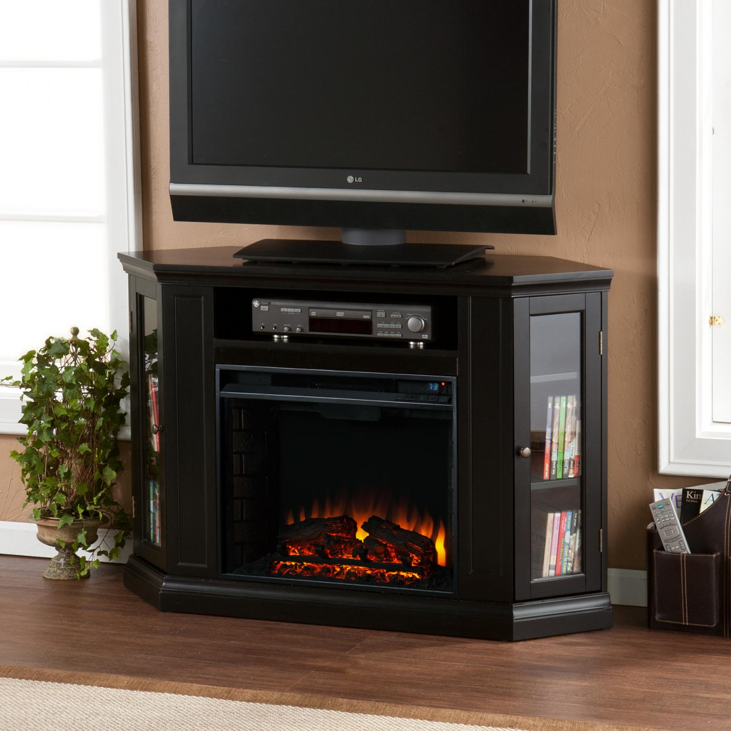 Claremont Convertible Media Electric Fireplace - Black