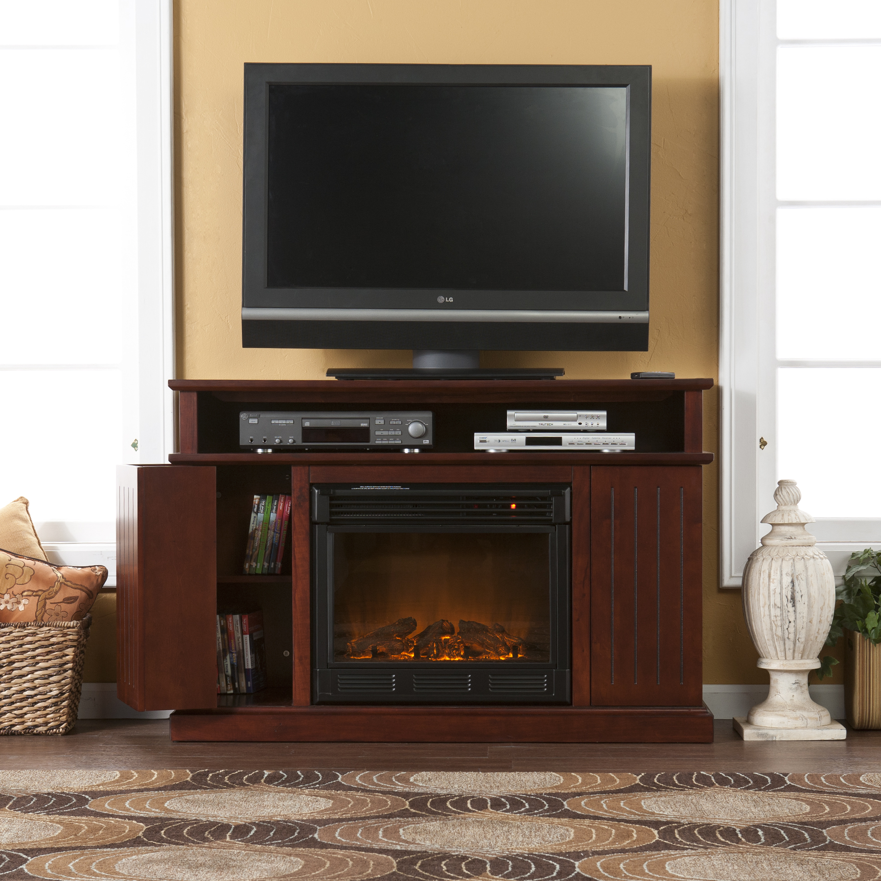 Holly Amp Martin Fenton Media Electric Fireplace Cherry