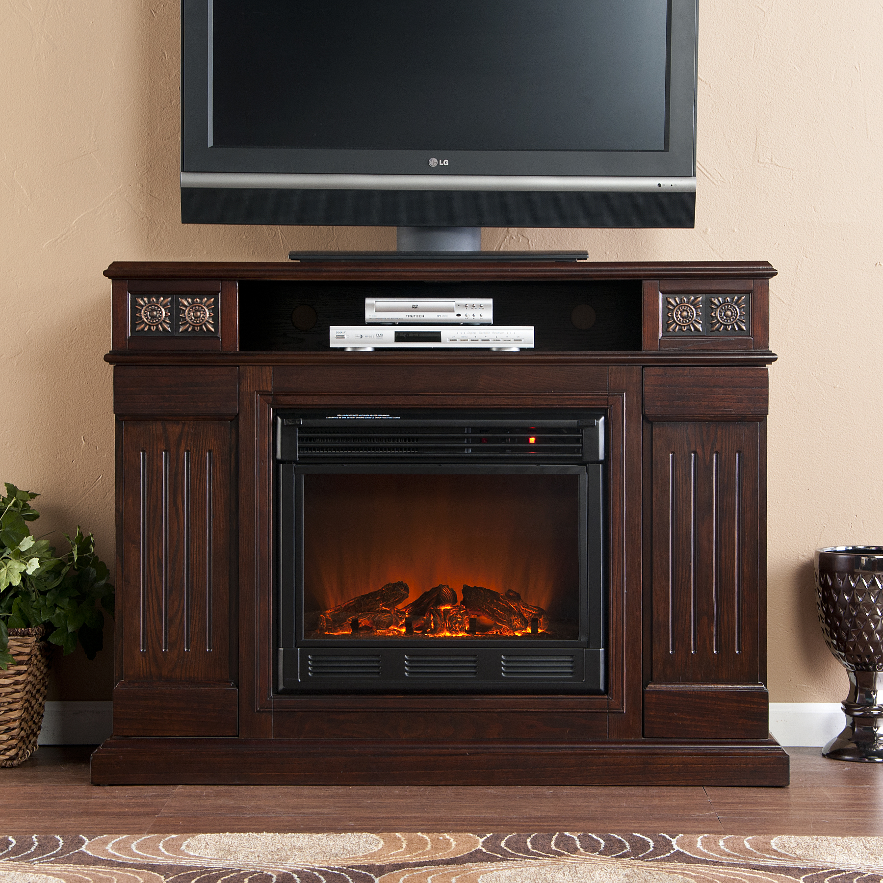 Holly & Martin™ Clifton Media Electric Fireplace-Espresso ...