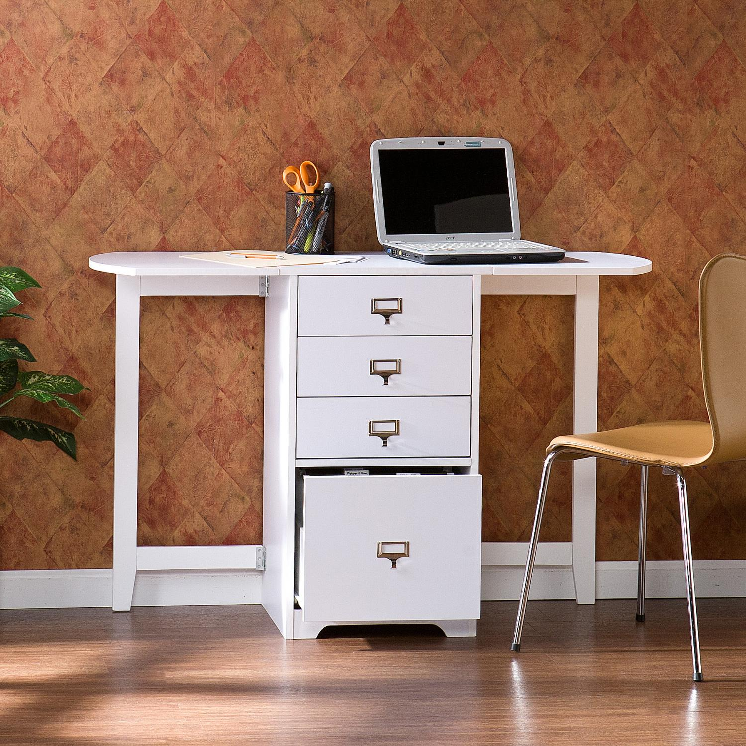 Delightful Fold Out Organizer And Craft Desk   White$199.99