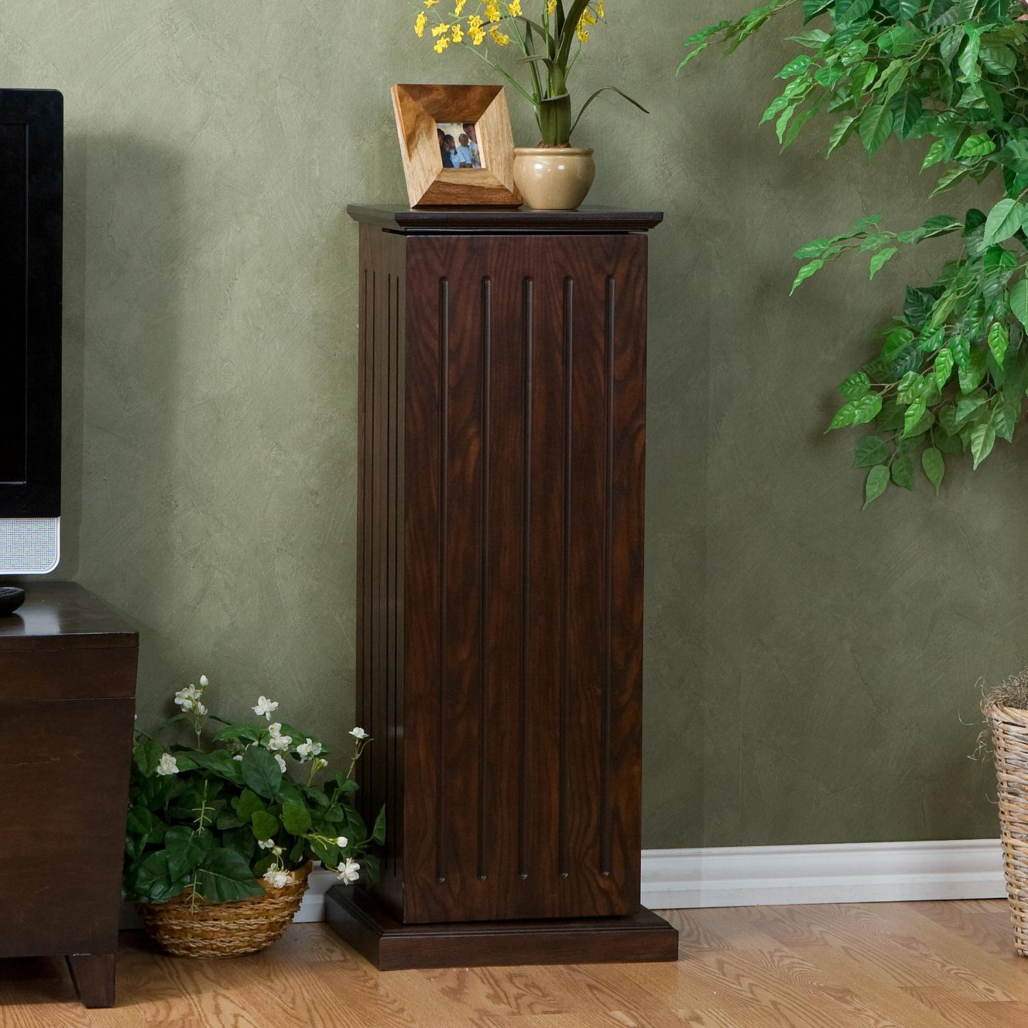 MS9213 jpg. Solid Oak Cabinet For DVD S  Vhs Tapes  Books And More