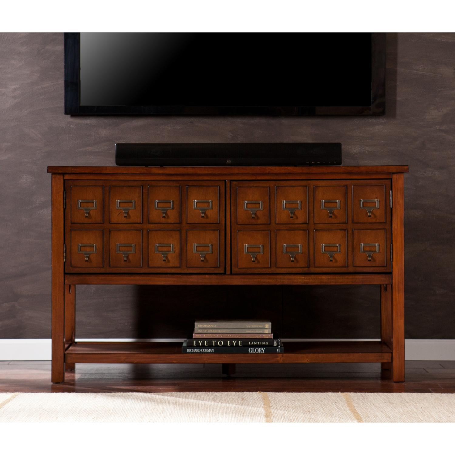 Apothecary Console Tv Stand Brown Mahogany