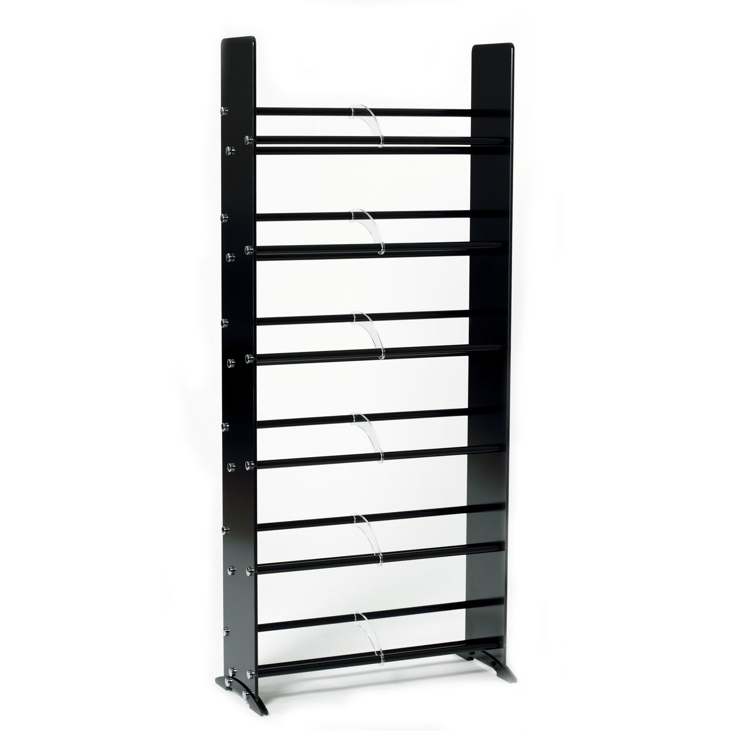 sc 1 st  Storehouserock & Black Tempered Glass Multimedia Storage Rack