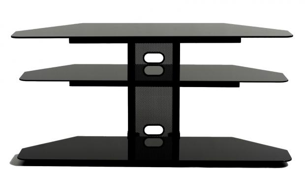 sc 1 st  Storehouserock & Corner LCD TV Stand With 2 Av Component Shelves