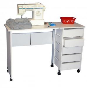 Hideaway Mobile Desk white