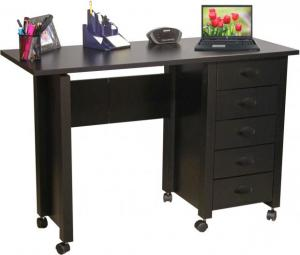 Mobile Desk & Craft Table  black