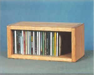 Solid Oak Desktop Or Shelf Cd Cabinet & CD DVD Wall Mount Racks CD Cabinets DVD Cabinets Wall Mount CD ...