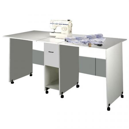 Craft Table with Drawer white