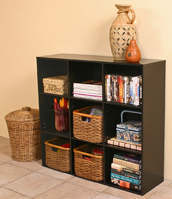 Project Center Bookcase  black