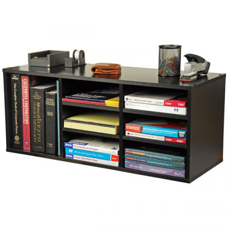 9 Compartment Desk Organizer   black