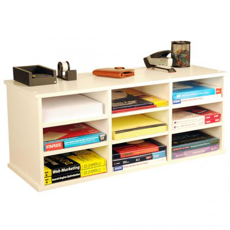 9 Compartment Desk Organizer   white