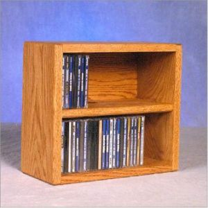 Solid Oak Desktop Or Shelf Cd Cabinet & Media Storage made of solid wood available in a large selection