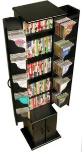 Media Storage Tower black