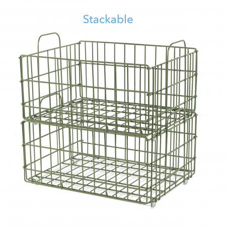 Atlantic Cart System Basket Wire Green
