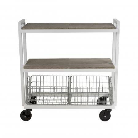Atlantic Cart System 3 Tier Wide White