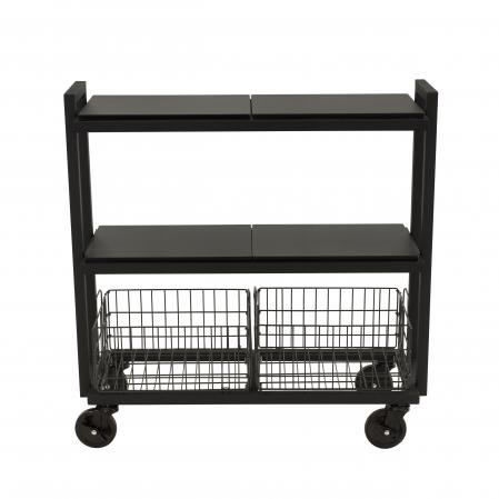 Atlantic Cart System 3 Tier Wide Black