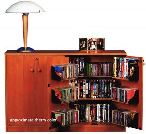Double Multimedia TV Cabinet  cherry