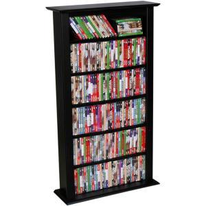 Media Storage Tower-Regular Single black