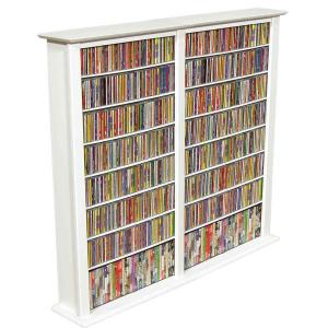 Media Storage Tower-Regular Double white
