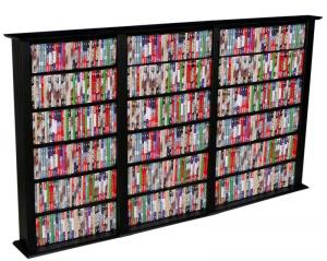 dvd storage capacity 500 and over rh storehouserock com DVD Display Shelves big lots dvd shelves