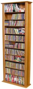 Media Storage Tower-Tall Single oak