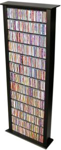 Media Storage Tower-Tall Single black