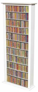 Media Storage Tower-Tall Single white
