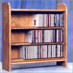 CD Wood Storage Rack - 165 CDs or 108 Casettes