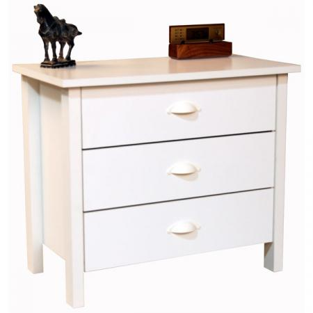 3 Drawer Nouvelle Chest white