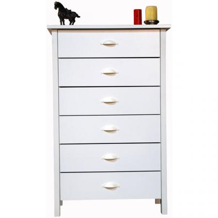 6 Drawer Nouvelle Chest white