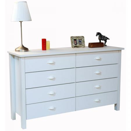 8 Drawer Nouvelle  Dresser  white