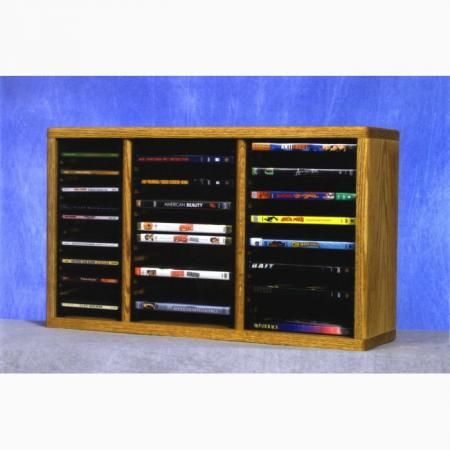 Solid Oak Shelf For Cd'S And DVD'S (Individual Locking Slots)