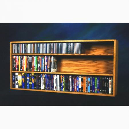 Solid Oak Shelf Mount For Cd And DVD/Vhs Tape/Book Cabinet