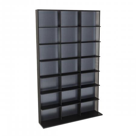 Atlantic Elite Media Storage Cabinet Medium 609CD/420DVD/483BR Black