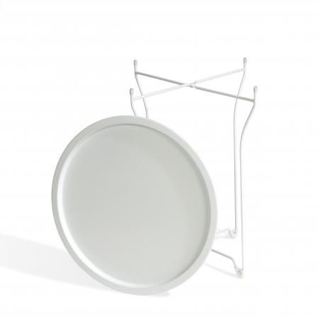 Atlantic Metal Round Collapsible, Powder Coated Tray White