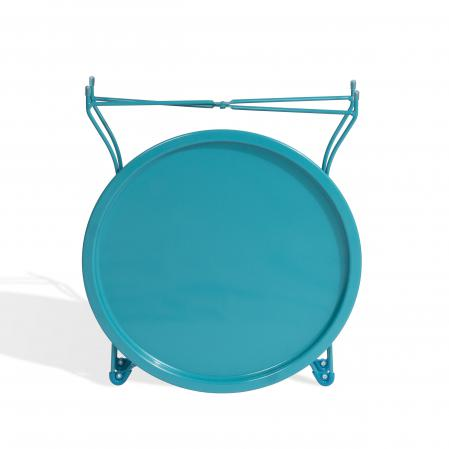 Atlantic Metal Round Collapsible, Powder Coated Tray Capri Breeze