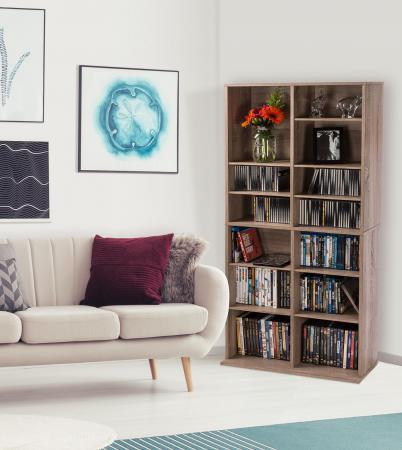 Atlantic Henley Adjustable Media Cabinet 464 Weathered Oak